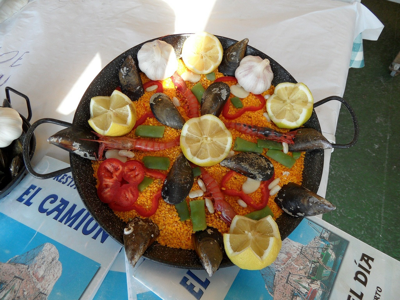 paella spain food free photo