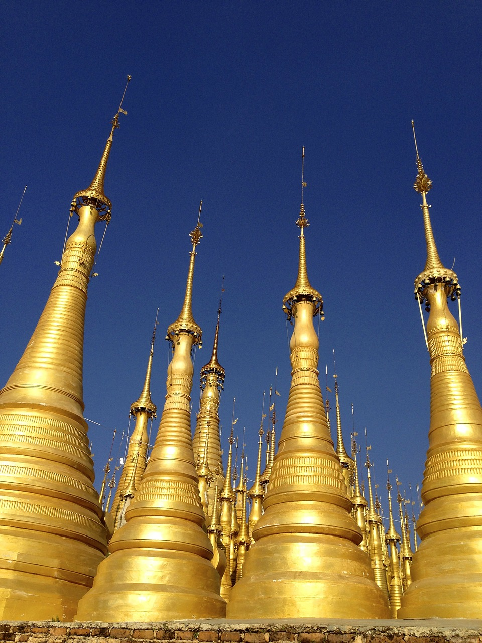 pagoda spires temple free photo