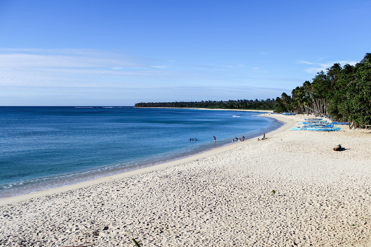 pagudpud beach,beach,blue sky,white,sand,sea,philippines,free pictures, free photos, free images, royalty free, free illustrations