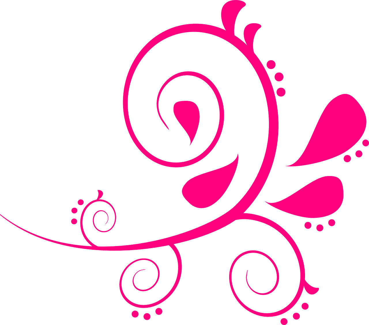 paisley swirls pink free photo