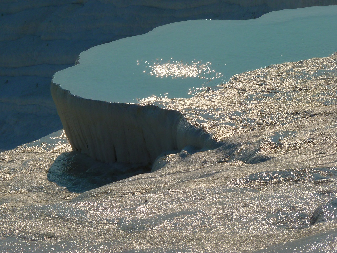 pamukkale lime sinter terrace swim free picture