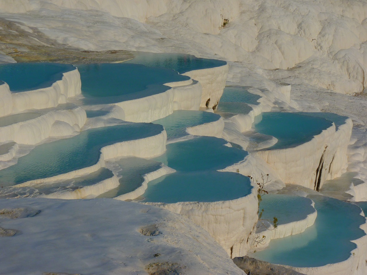 pamukkale lime sinter terrace sinterterrasse free photo
