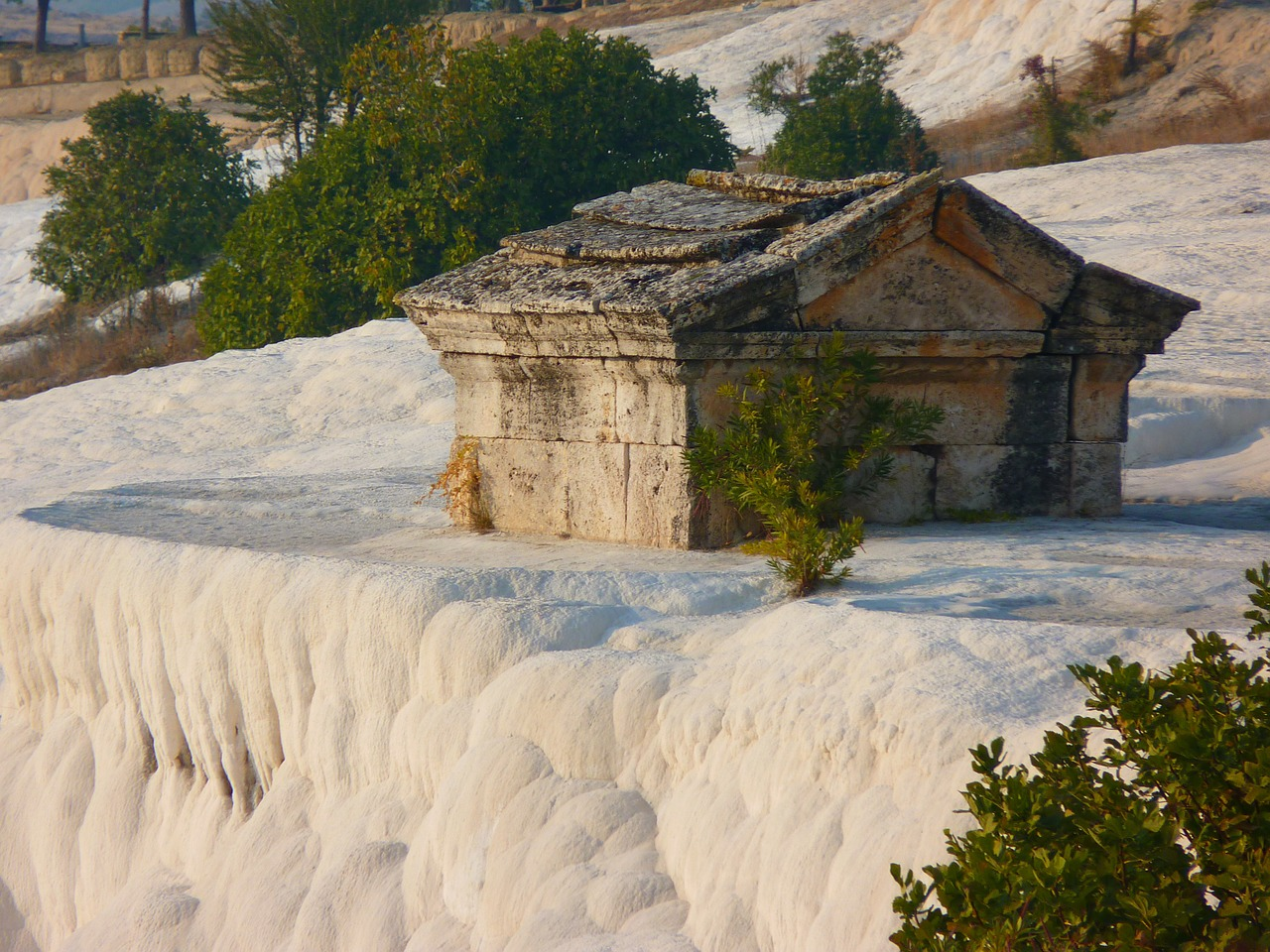 pamukkale sarcophagus tomb free photo
