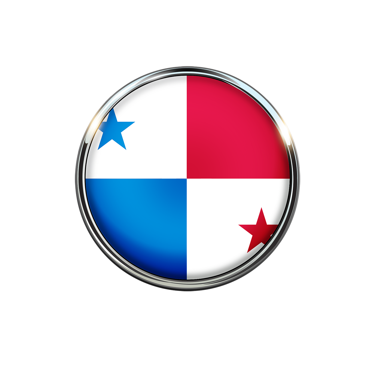 Panama Flag Circle
