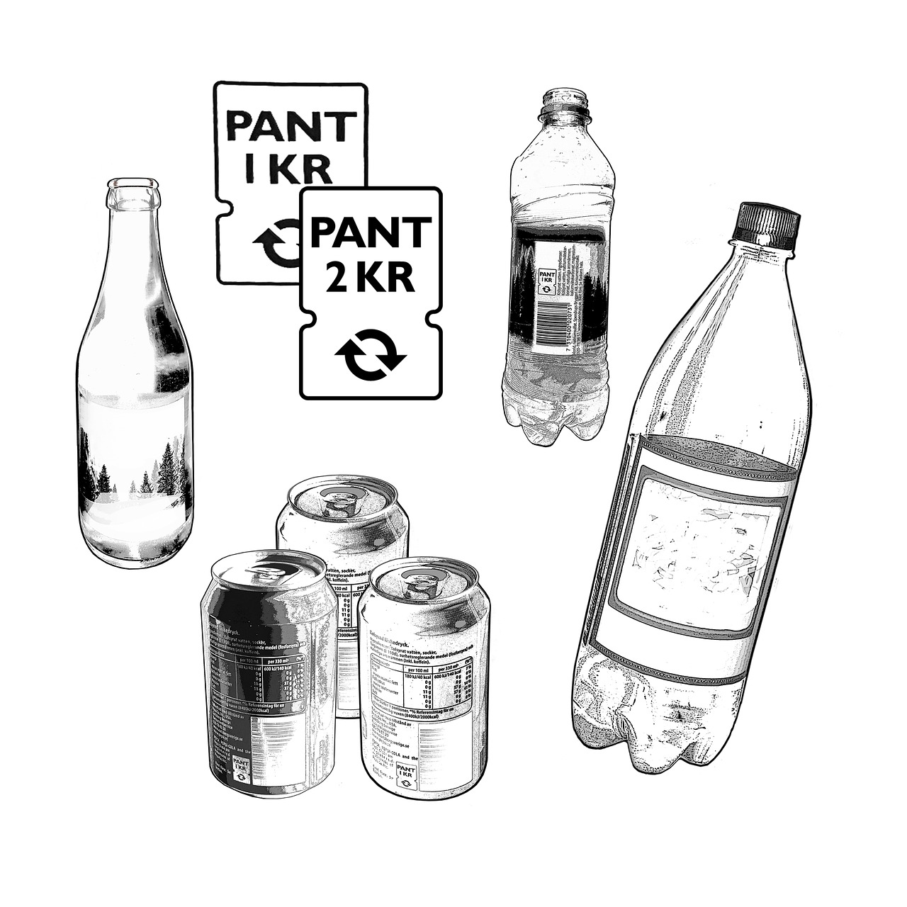 pant,enter,recycling,environmental,source separation,garbage,waste recycling,waste,sustainability,bottle,jar,bottles,pet,free pictures, free photos, free images, royalty free, free illustrations