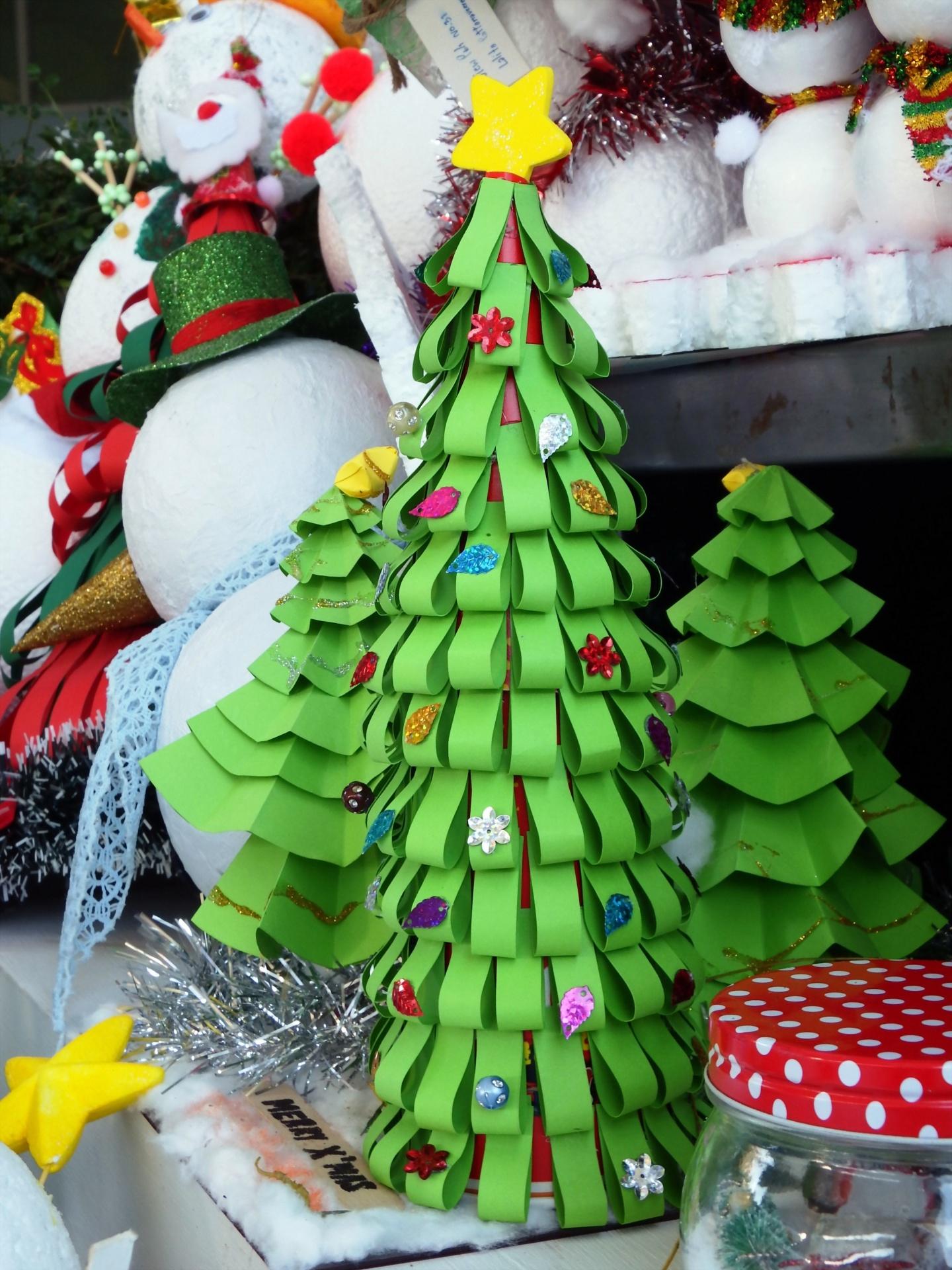 Children Christmas Tree Decorations.Paper Craft Christmas Xmas Tree Free Photo From Needpix Com