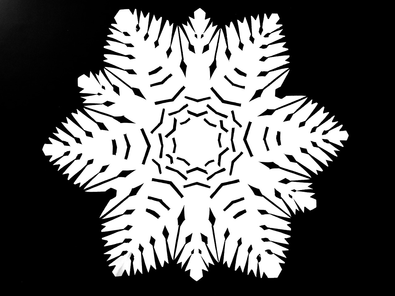 paper cut silhouette snowflake free photo