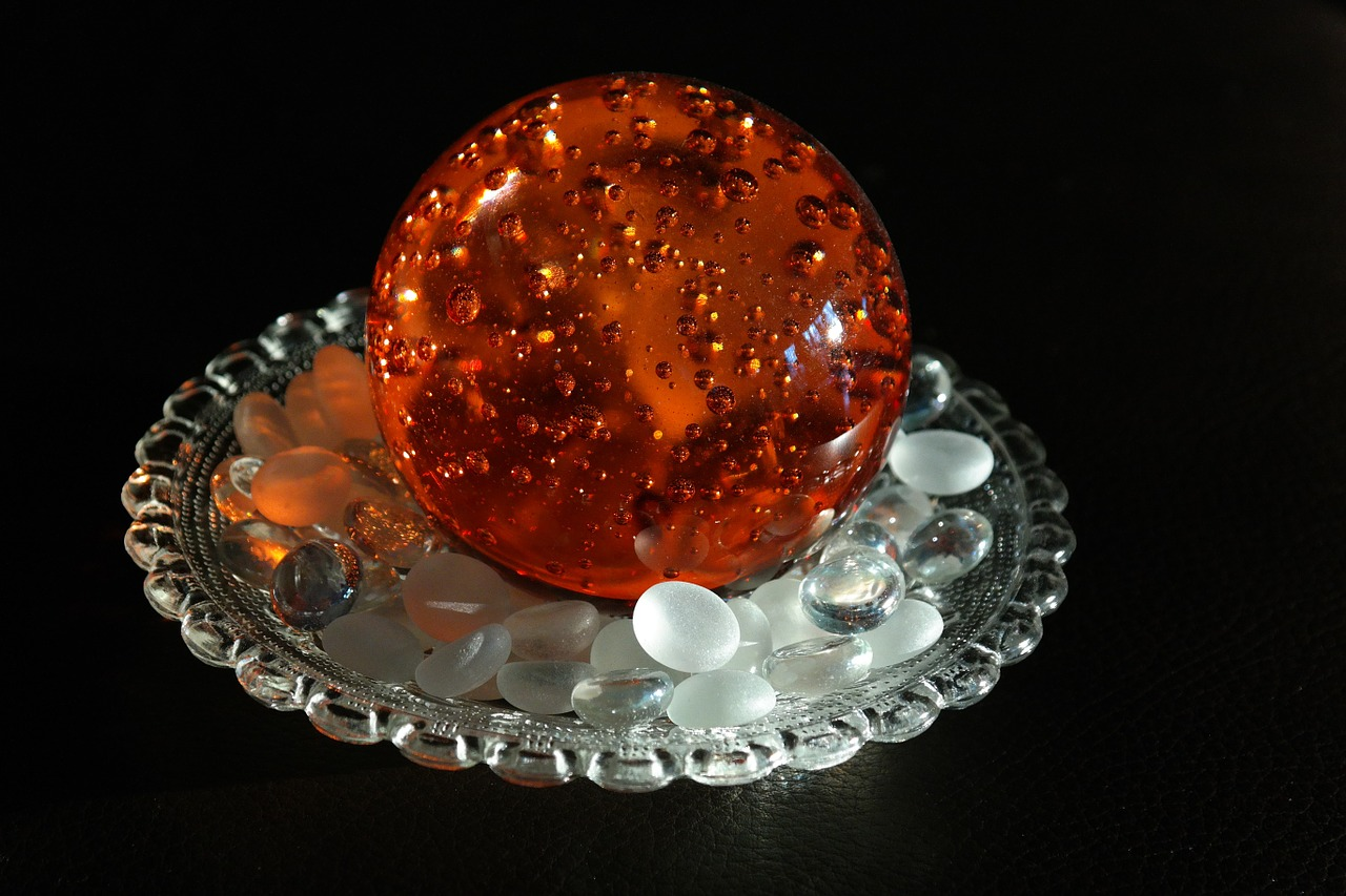 paperweight crystal ball colored free photo