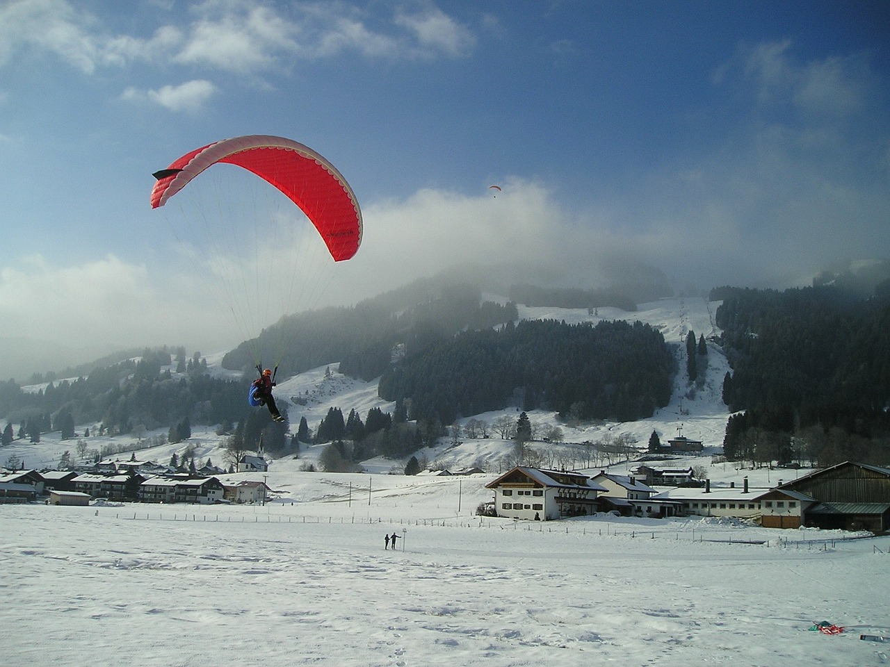 paragliding fly paraglider free photo