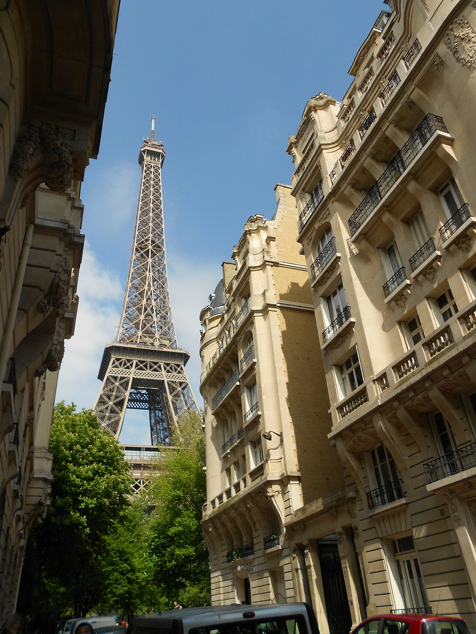 paris france eiffel tower landmark free photo