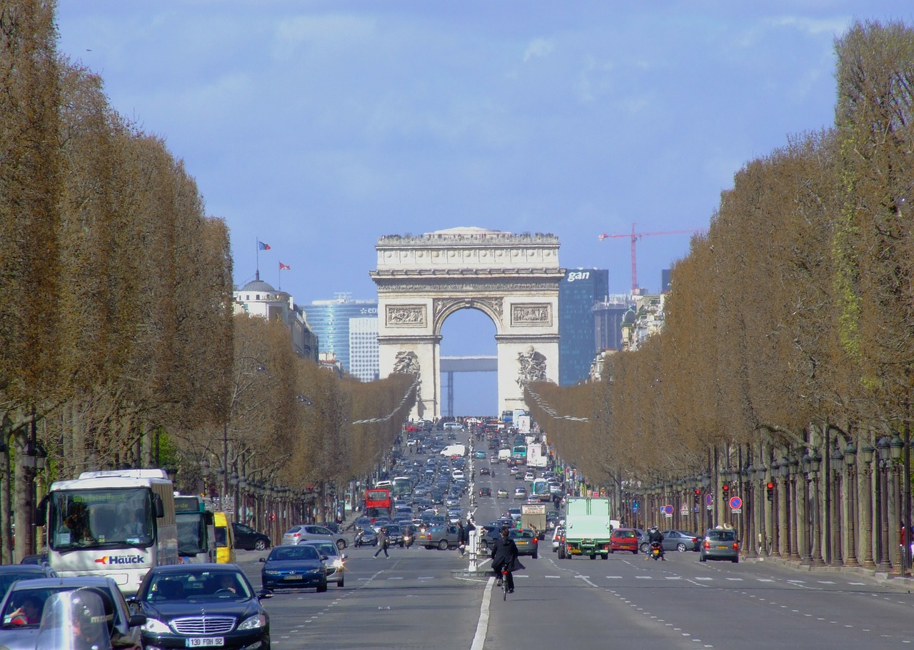 paris france arc de triomphe free photo