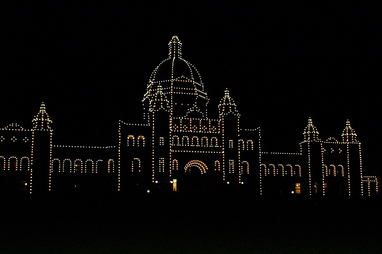 parliament building victoria city night free photo