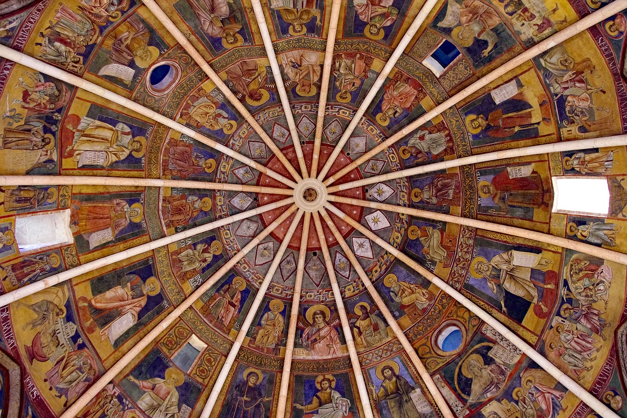 parma baptistery dome free photo
