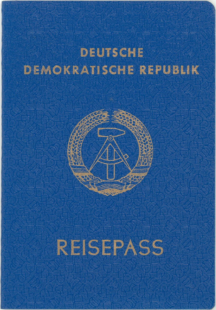 passport lack of article once ddr free photo