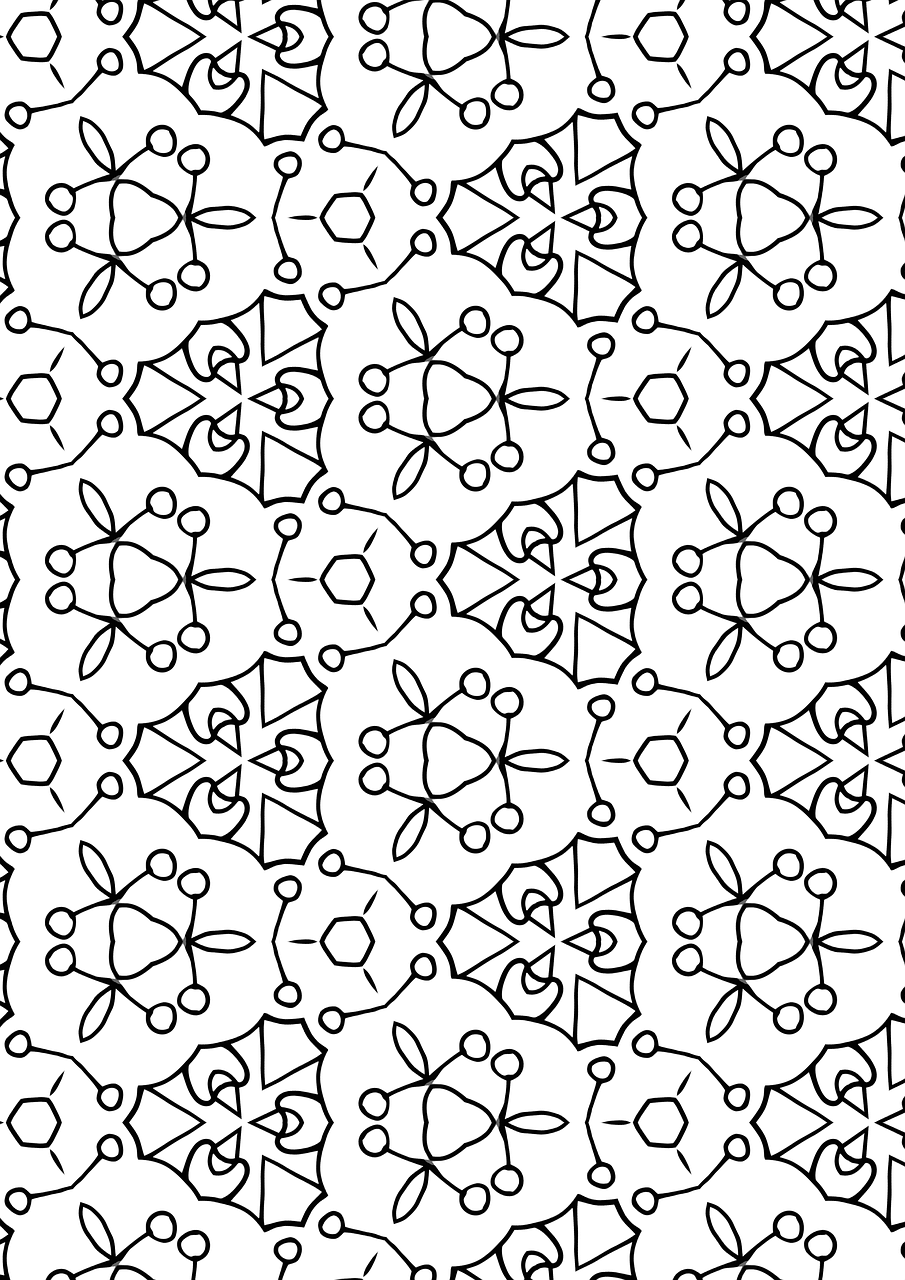 Pattern,floral,coloring page,random,design - free photo from needpix.com