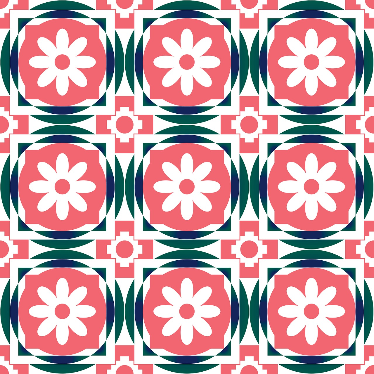 pattern geometric flower free photo