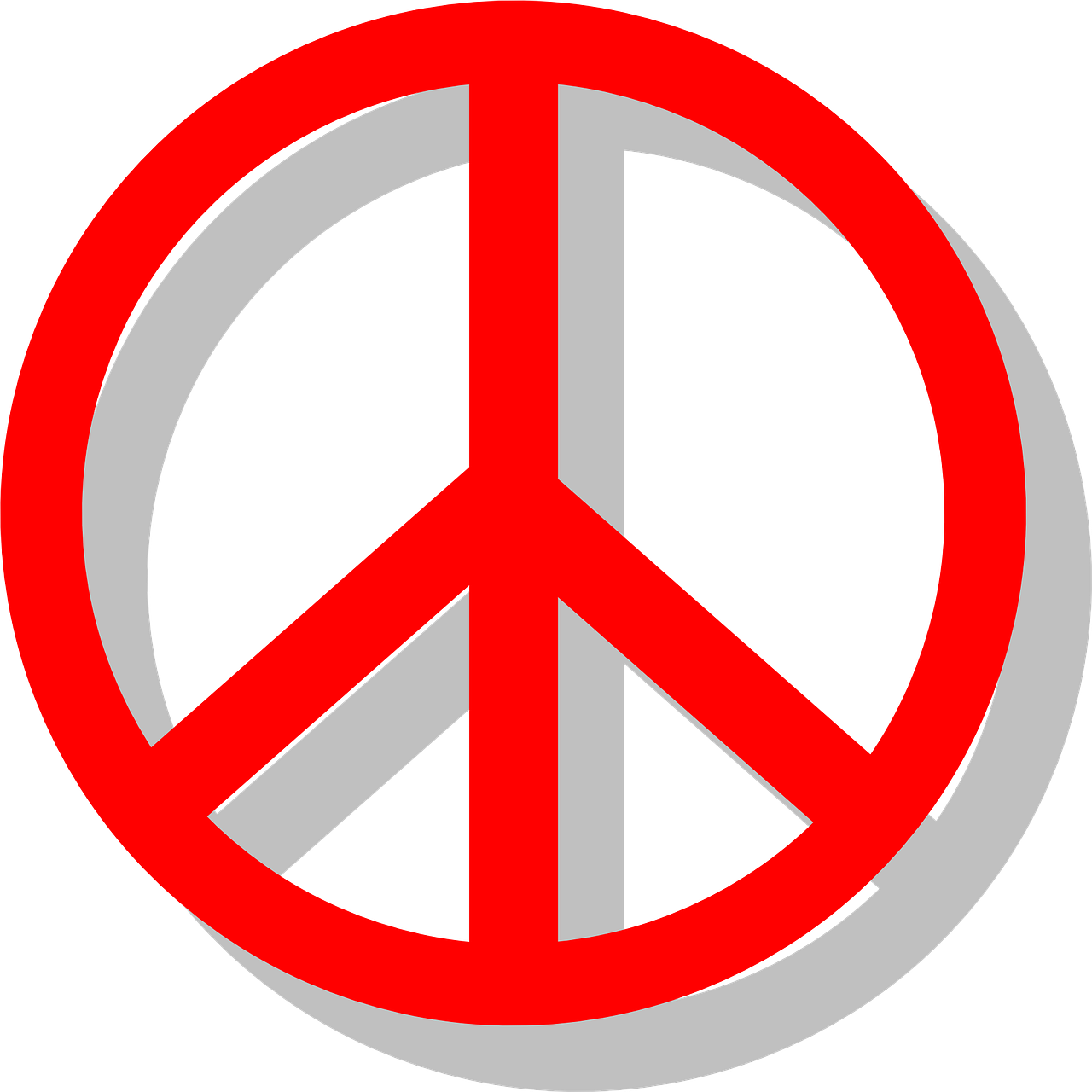 peace sign red free photo