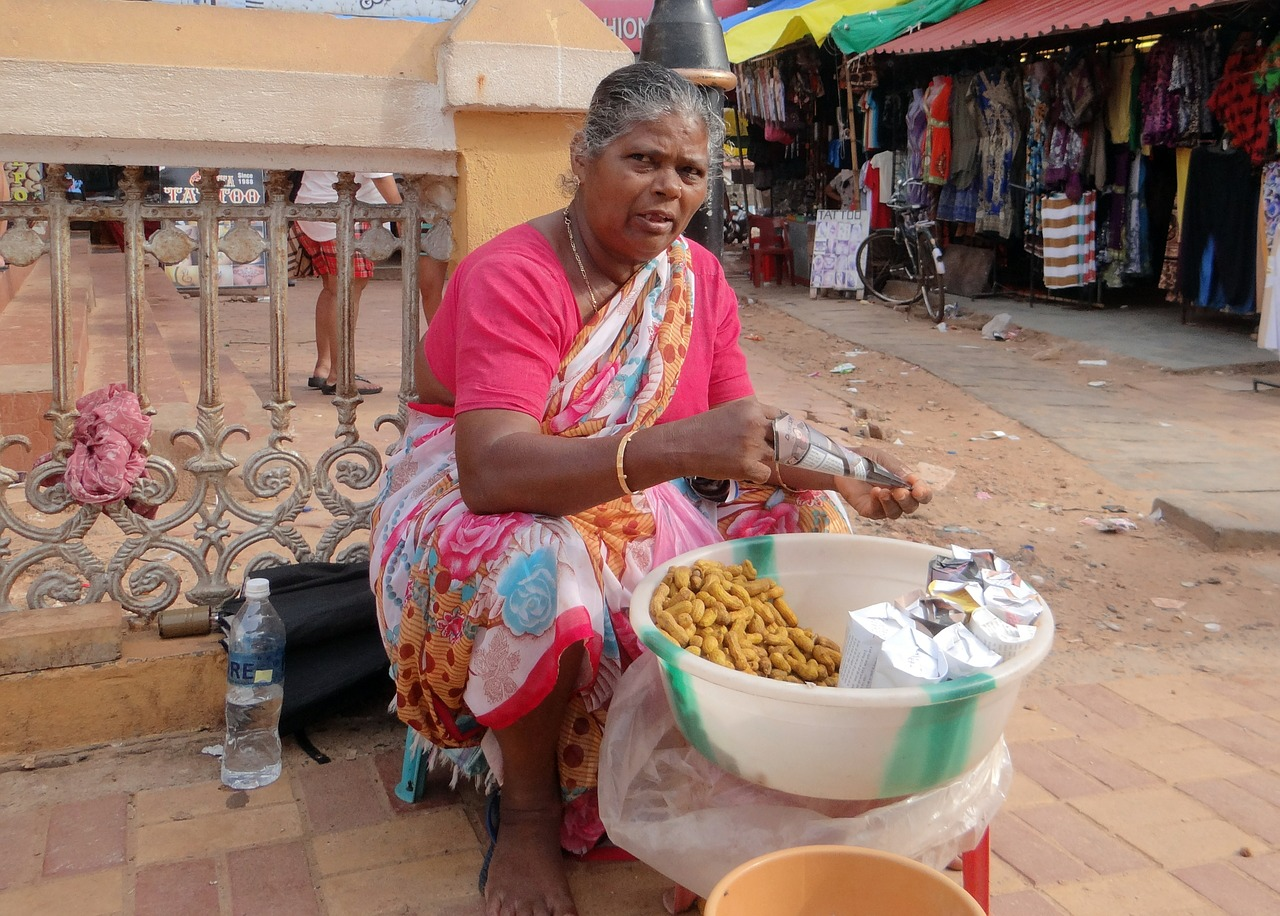peanut seller woman street vendor free picture