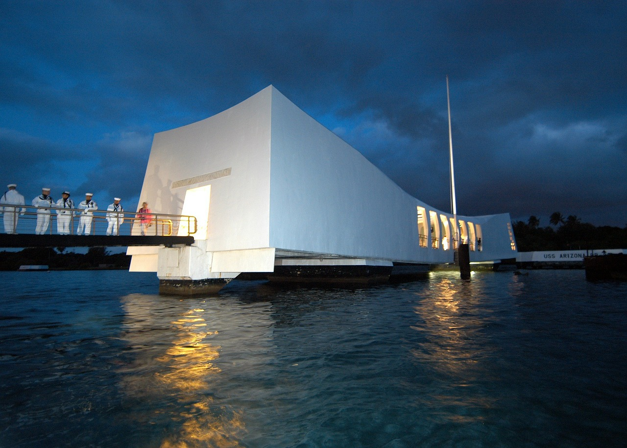 pearl harbor hawaii evening free photo