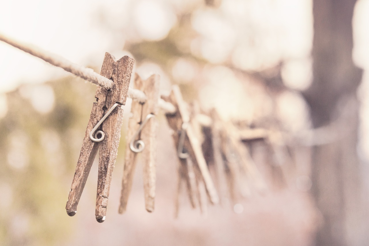 pegs clothes line clothesline free photo