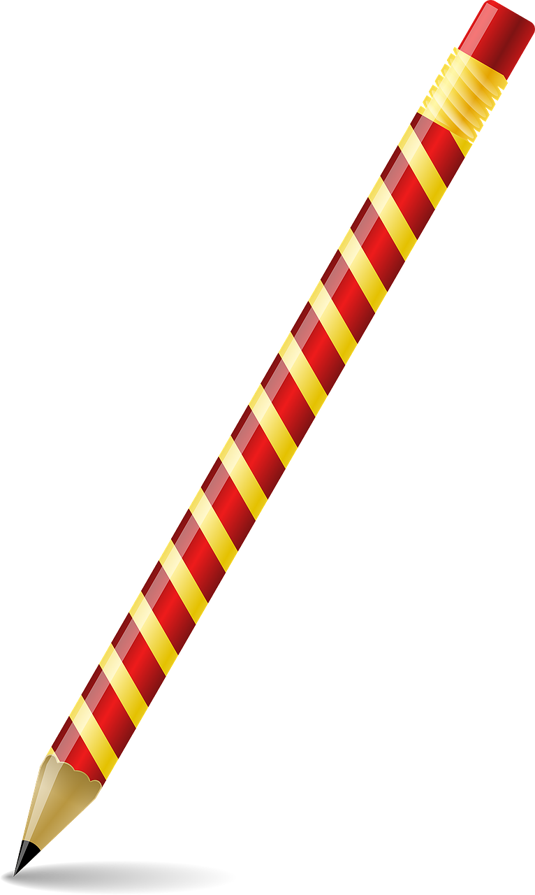 pencil red yellow free photo
