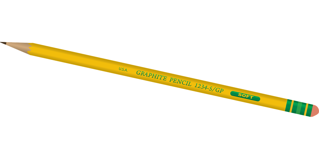 pencil yellow writing free photo