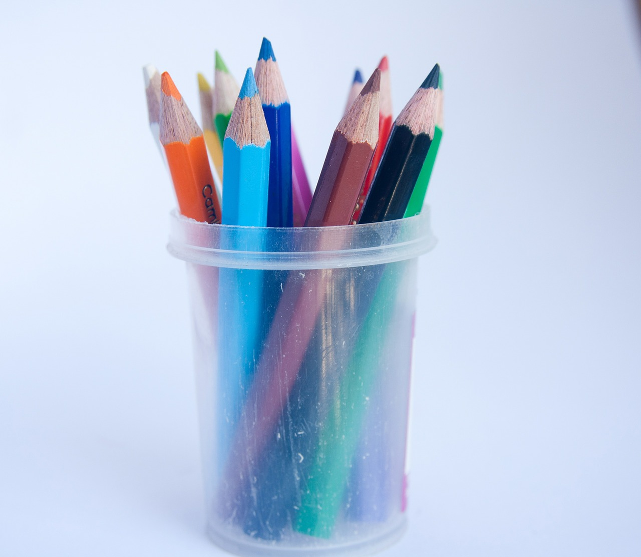 pencils spectrum colors free picture