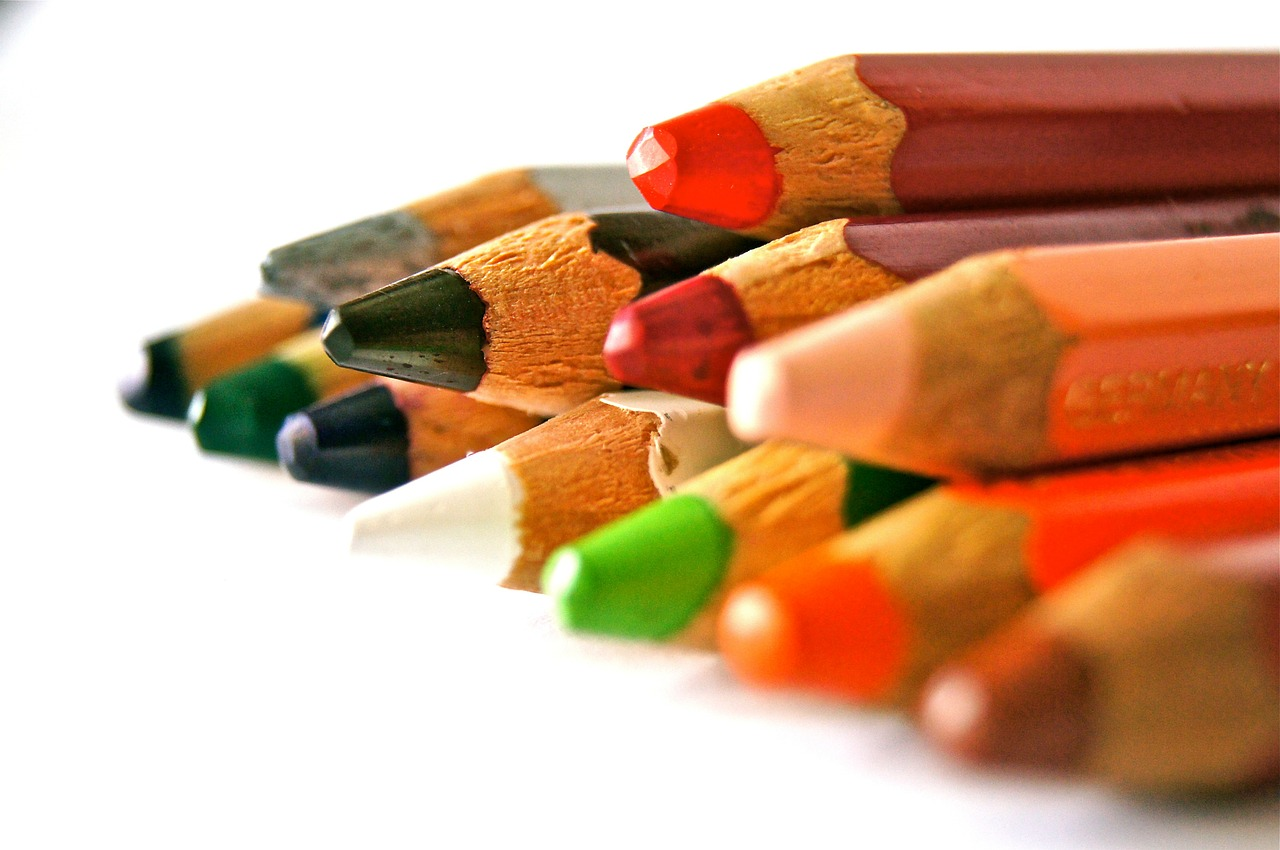 pens colored pencils school free photo