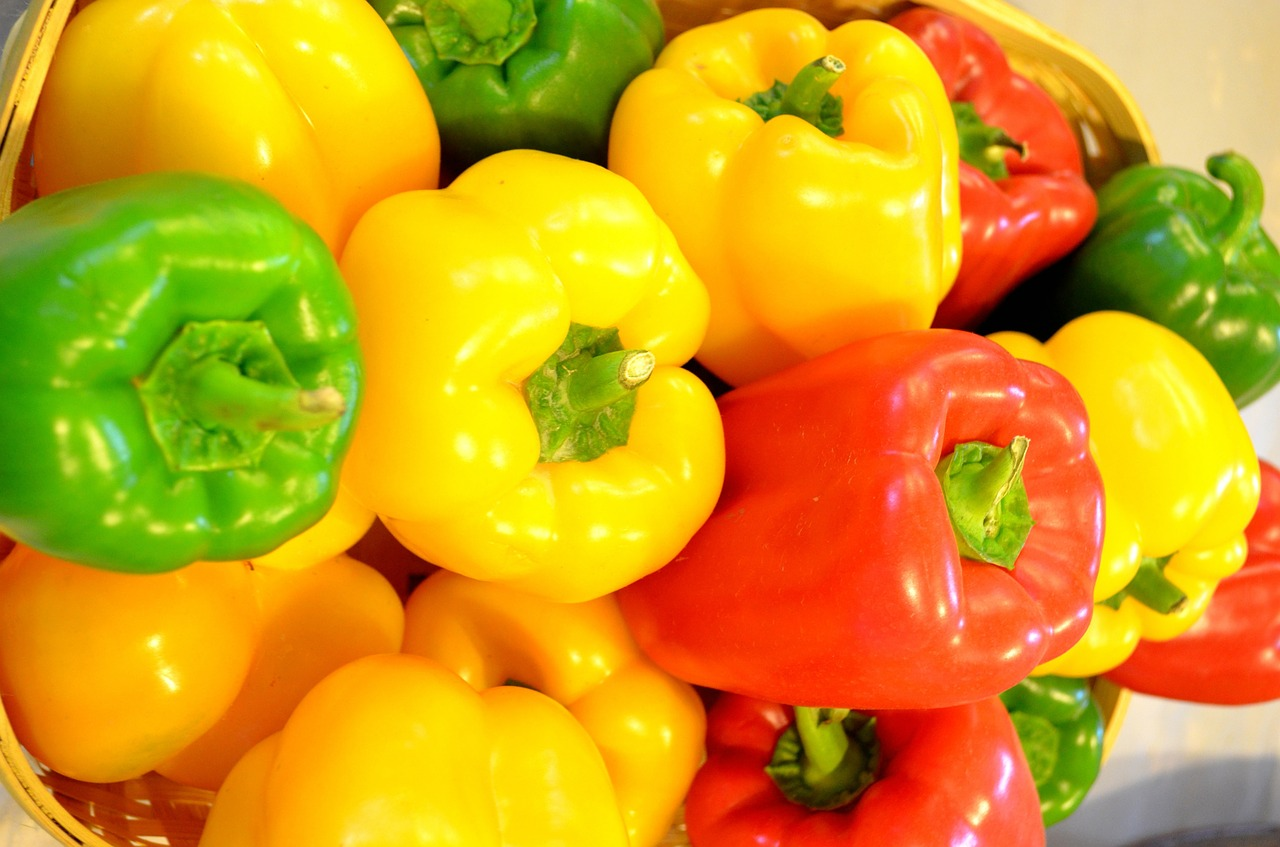 peppers vegetables food free picture