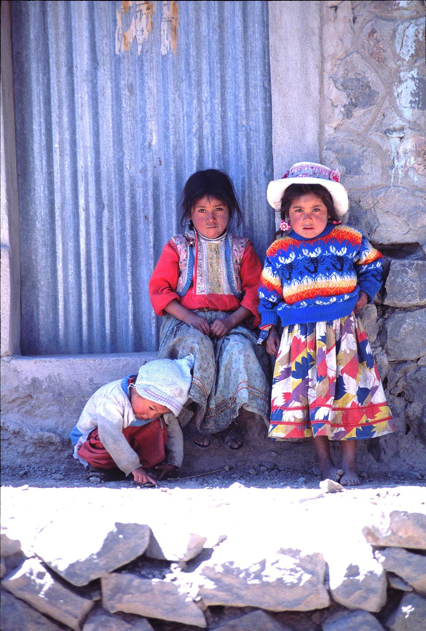 peru children colorful free photo