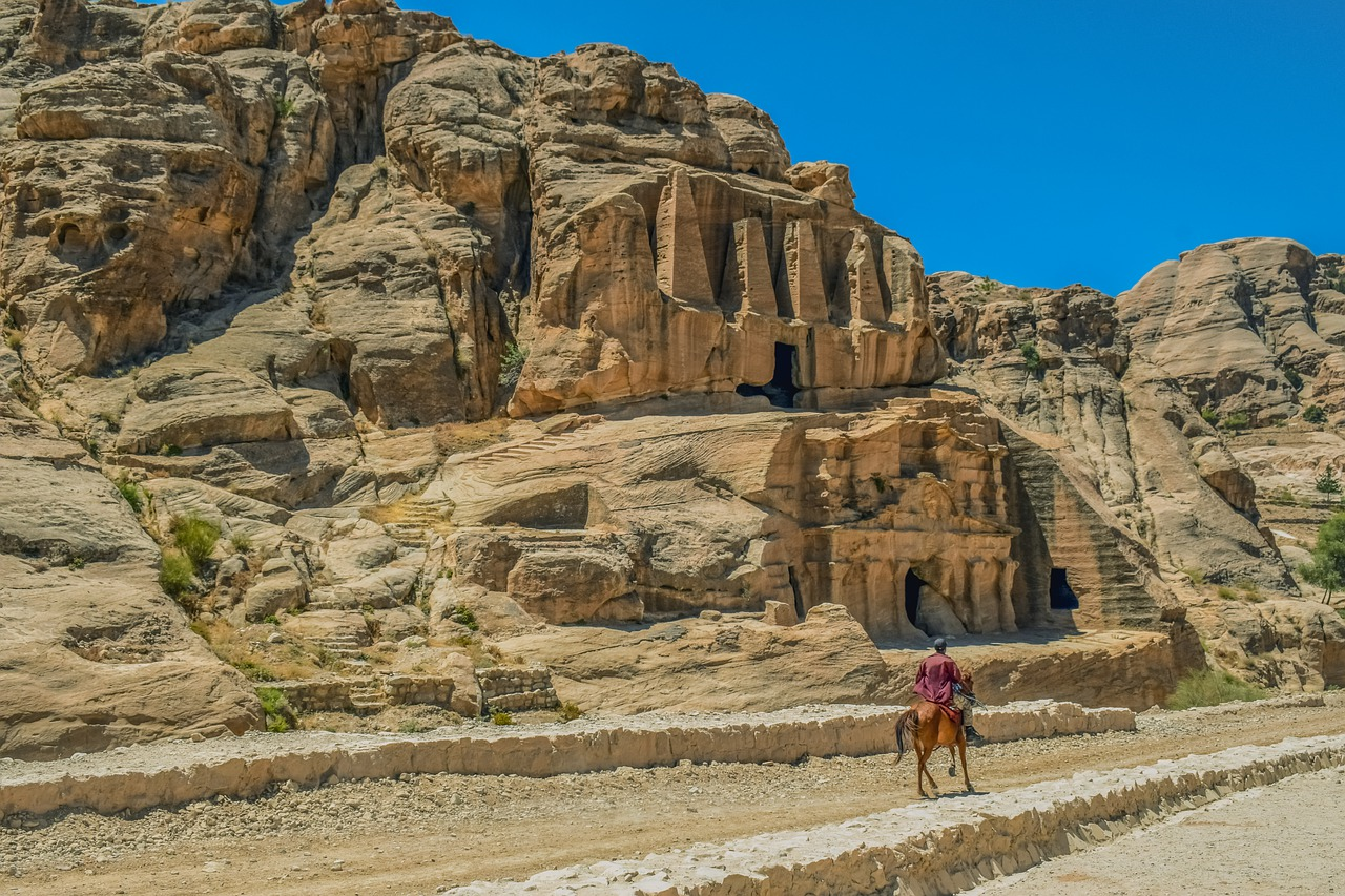 petra  jordan  canyon free photo