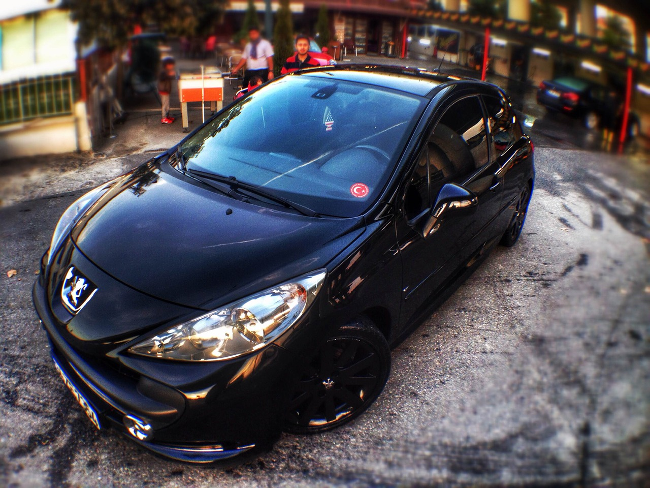 peugeot arba black free photo