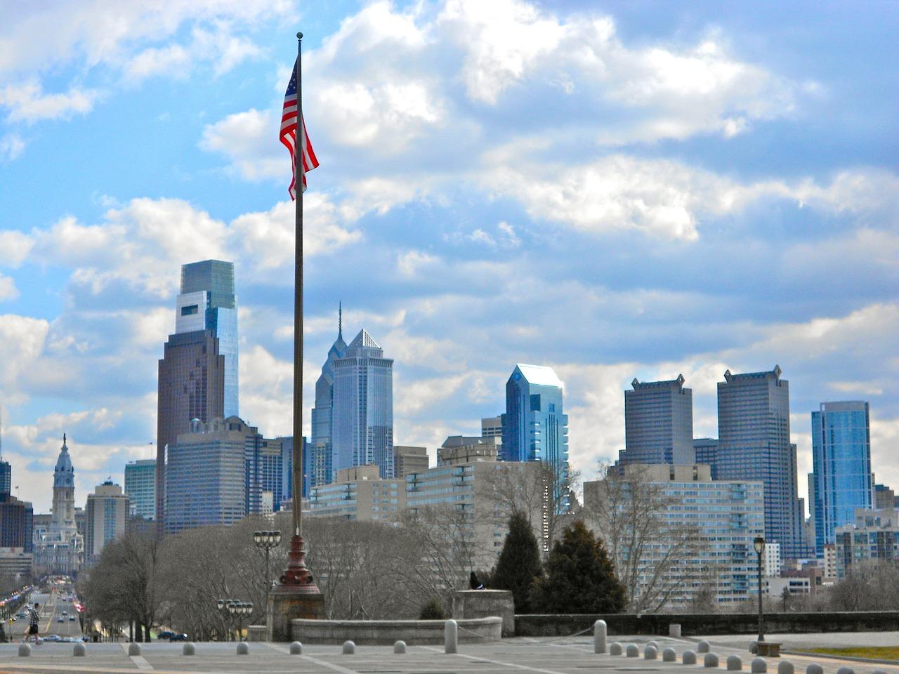 Philadelphia,pennsylvania,sky,clouds,skyscrapers - free image from ...