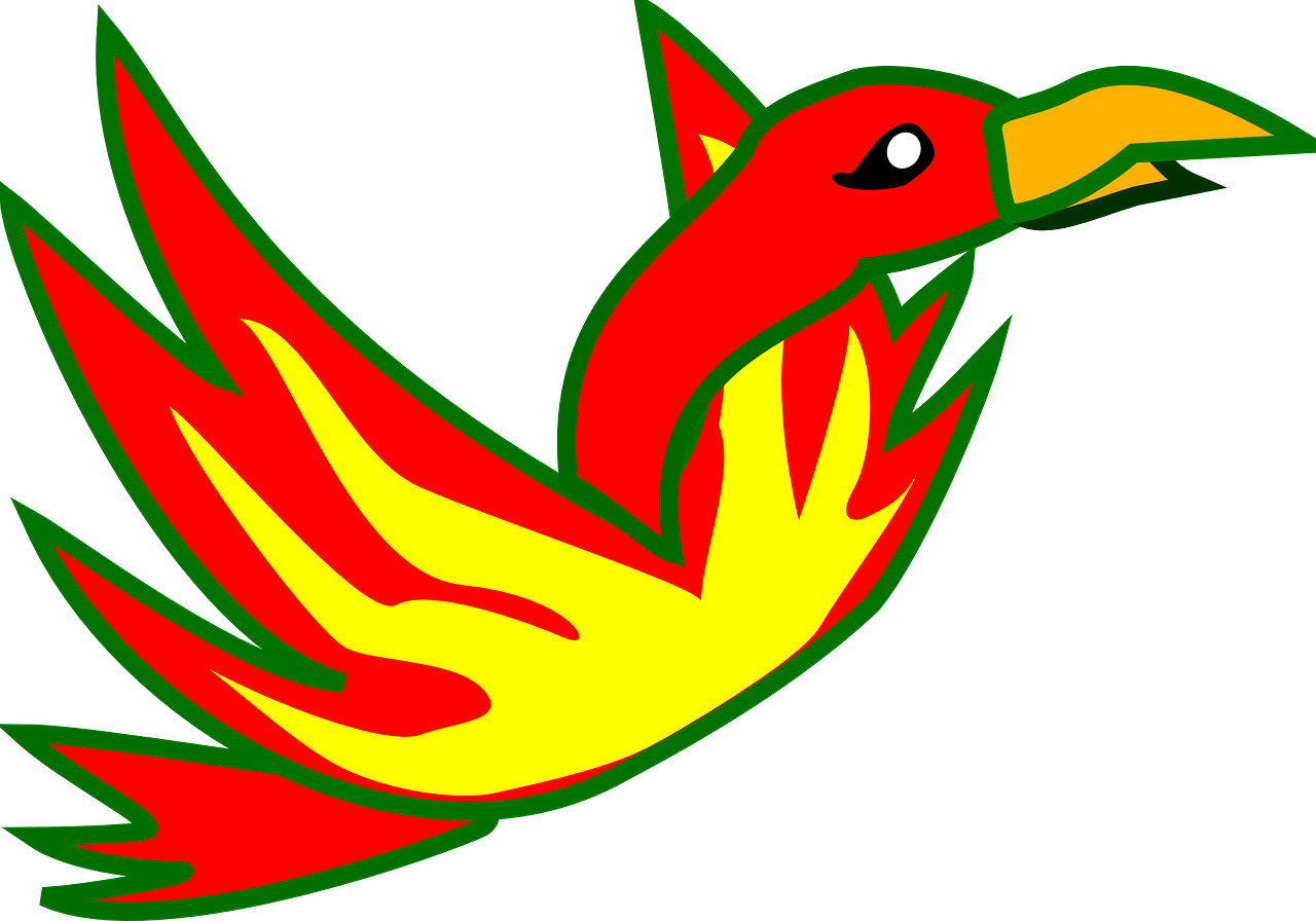 phoenix bird of fire mythical free photo