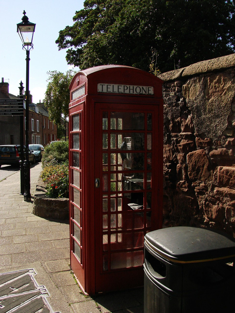 phone booth london england free photo