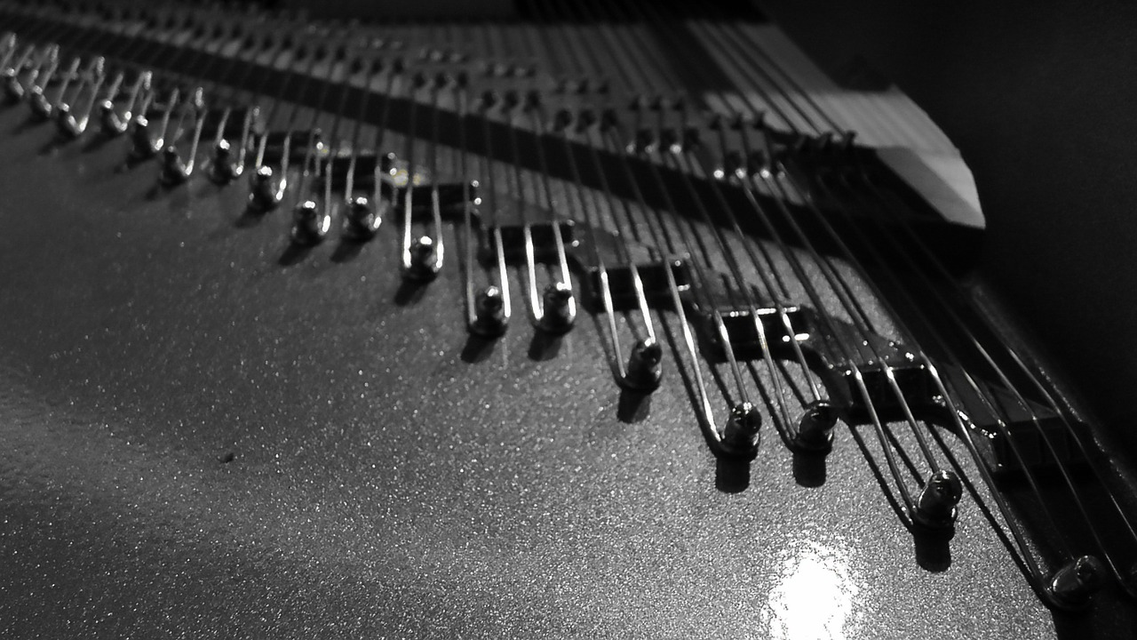 piano strings strings piano free photo