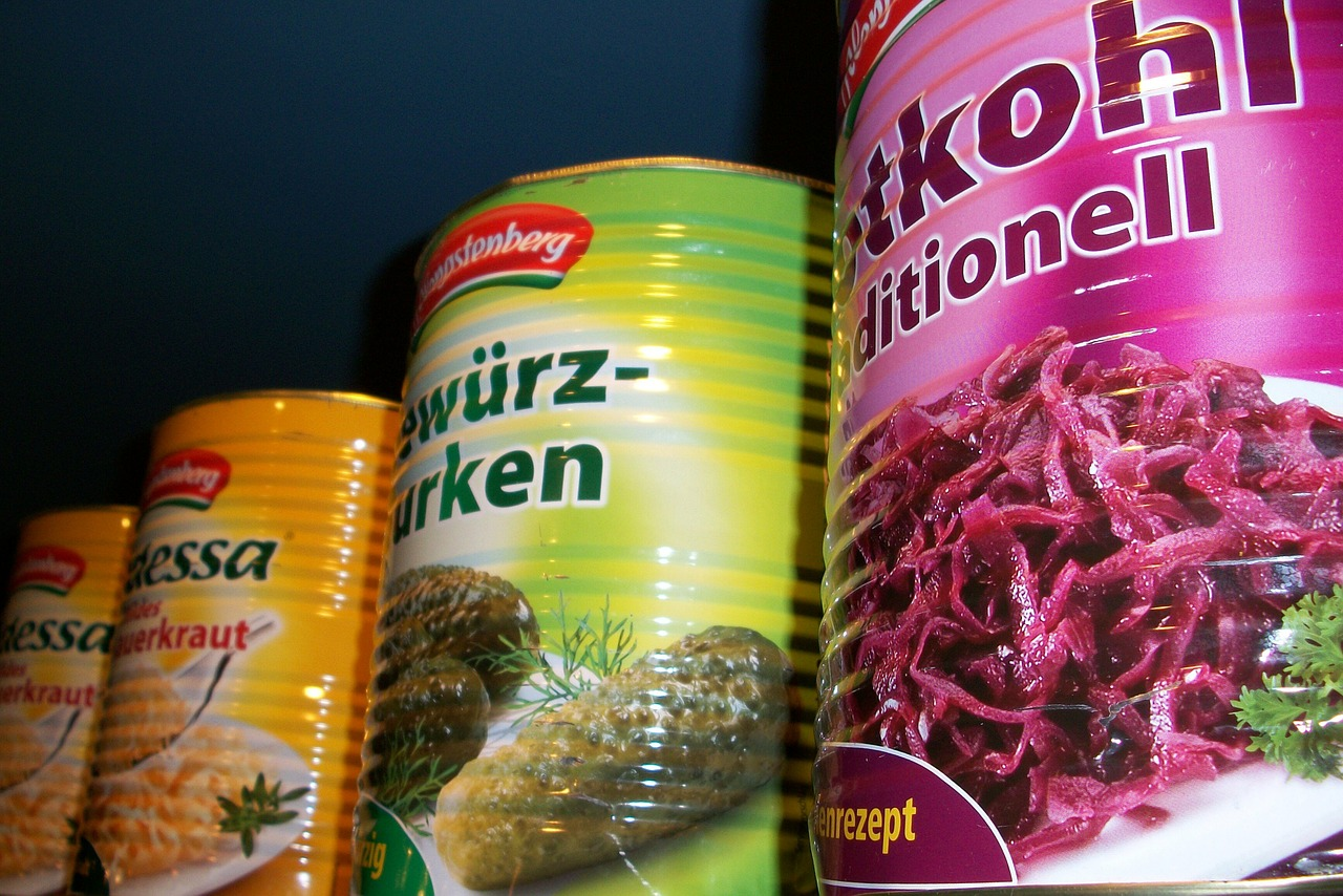 pickles sauerkraut cans free picture