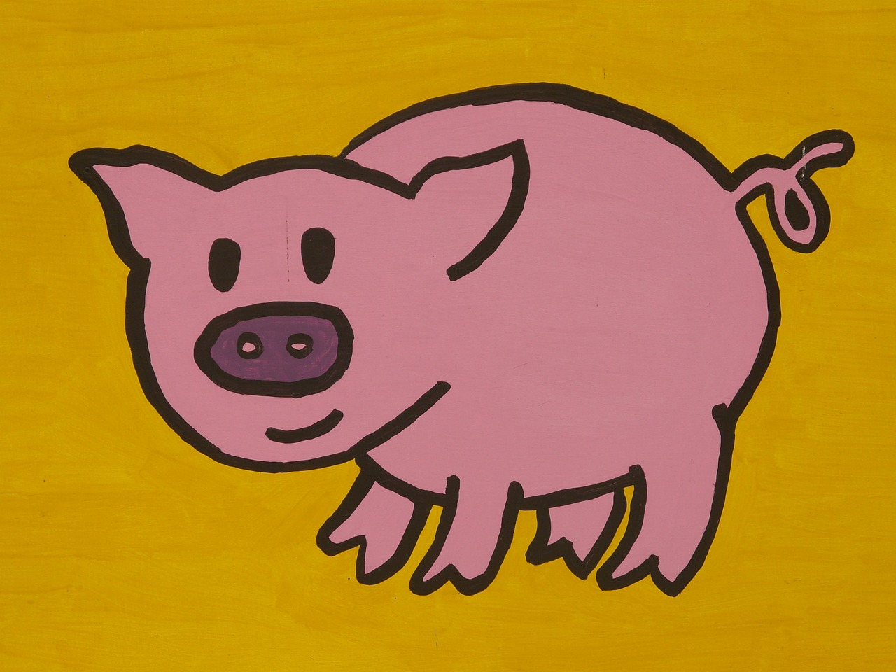 pig cartoon character drawing free photo