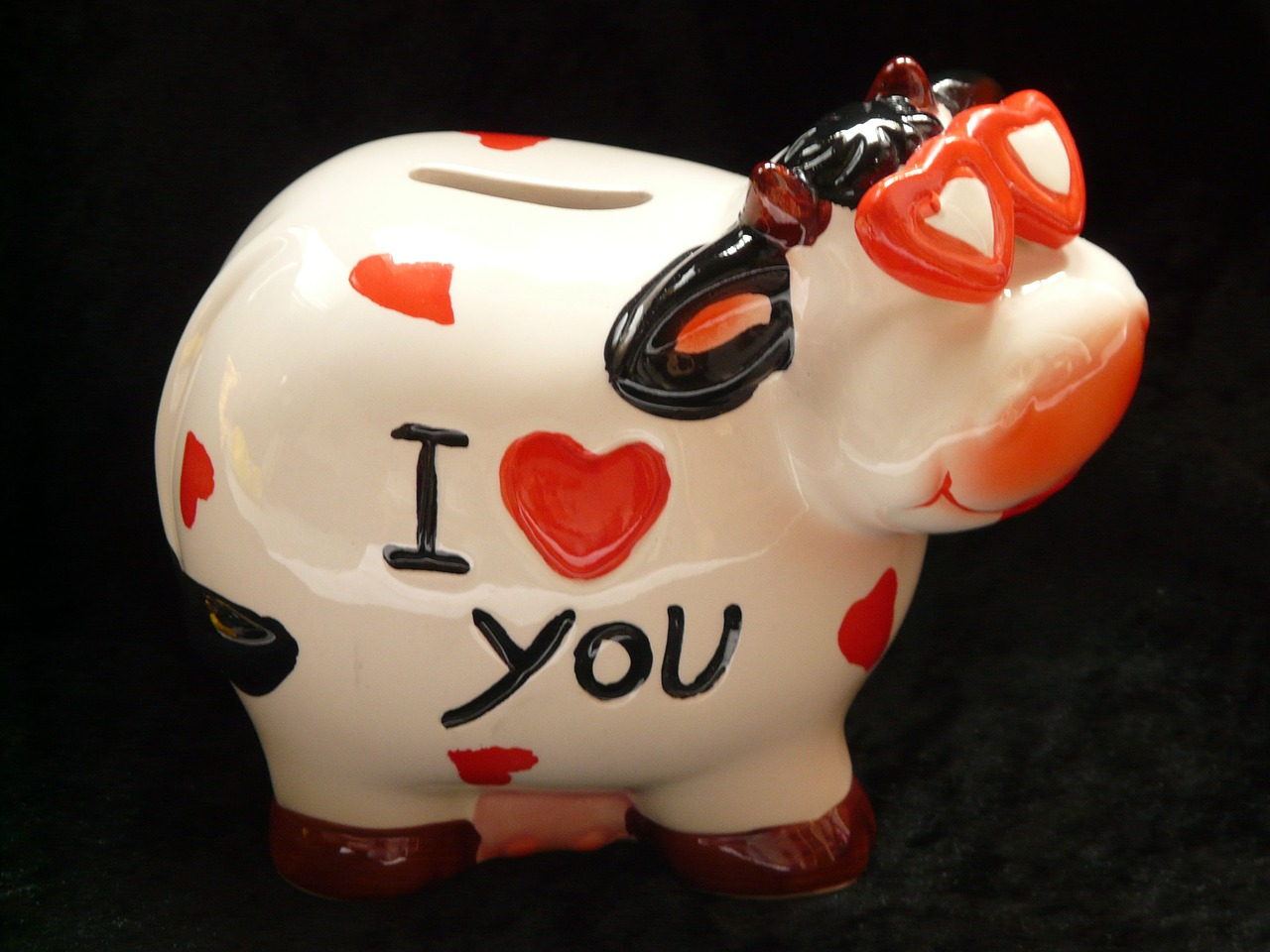 piggy bank savings bank cow free photo