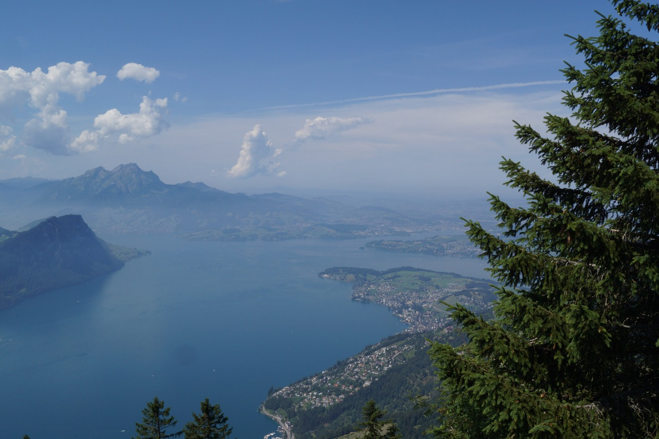pilatus lake basin lake lucerne region free photo
