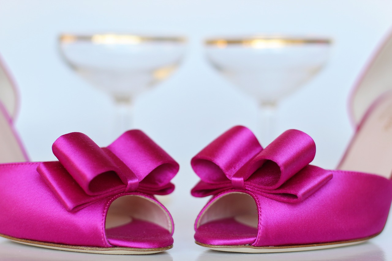 pink shoes wedding shoes wedding free photo
