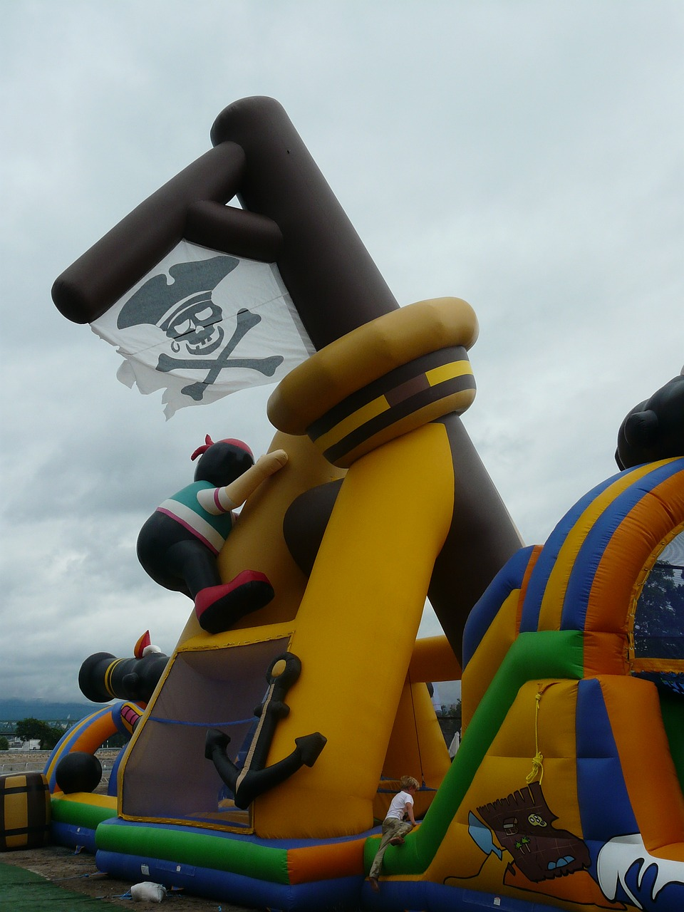 pirate bouncy castle pirate ship bouncy castle free photo