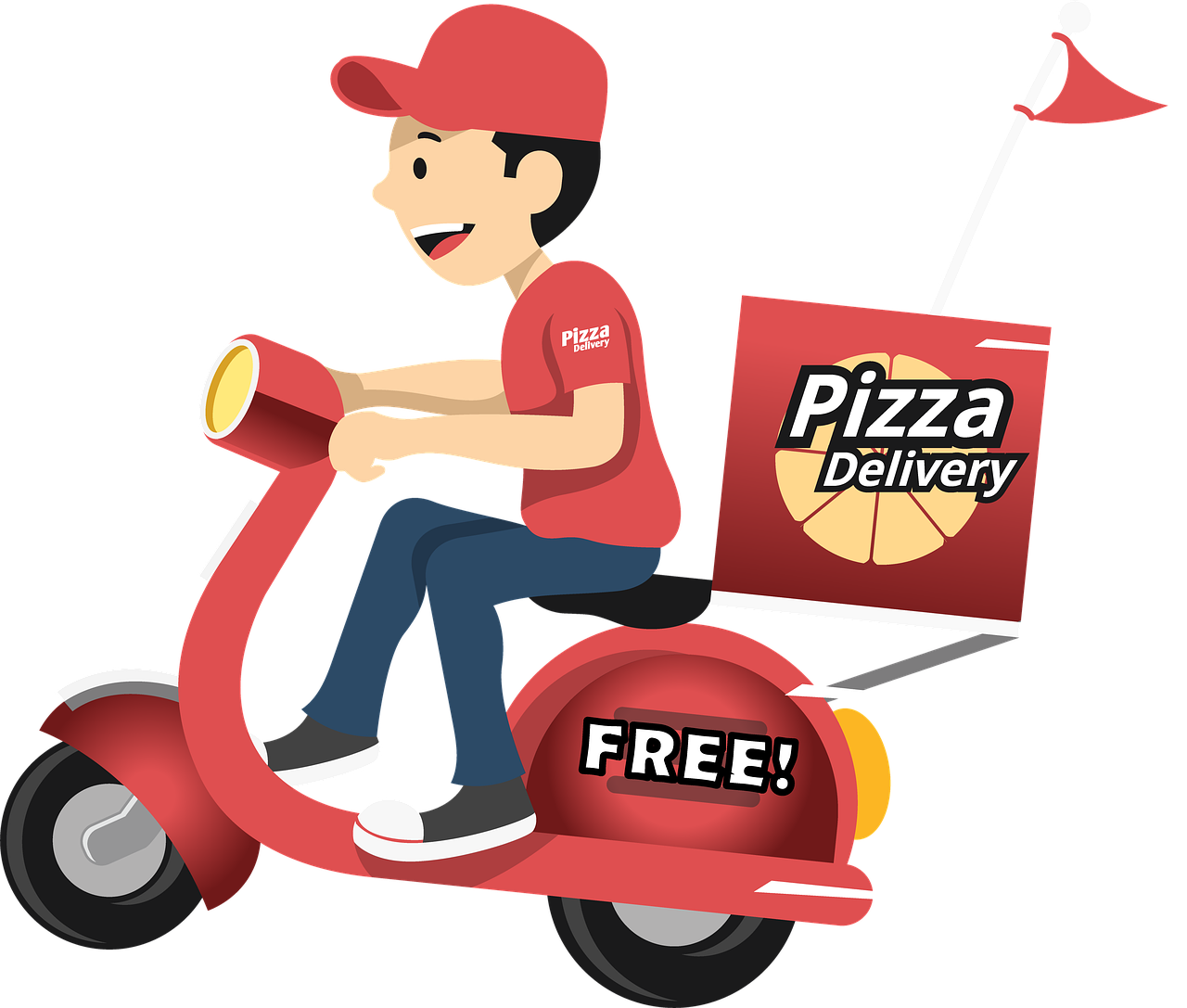 pizza, delivery, food, Free illustrations,free pictures, free photos, free images, royalty free, free illustrations, public domain
