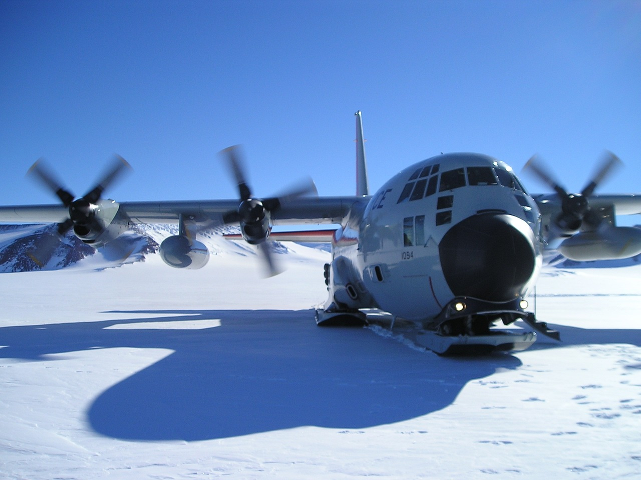 plane antarctica mcmurdo station free photo
