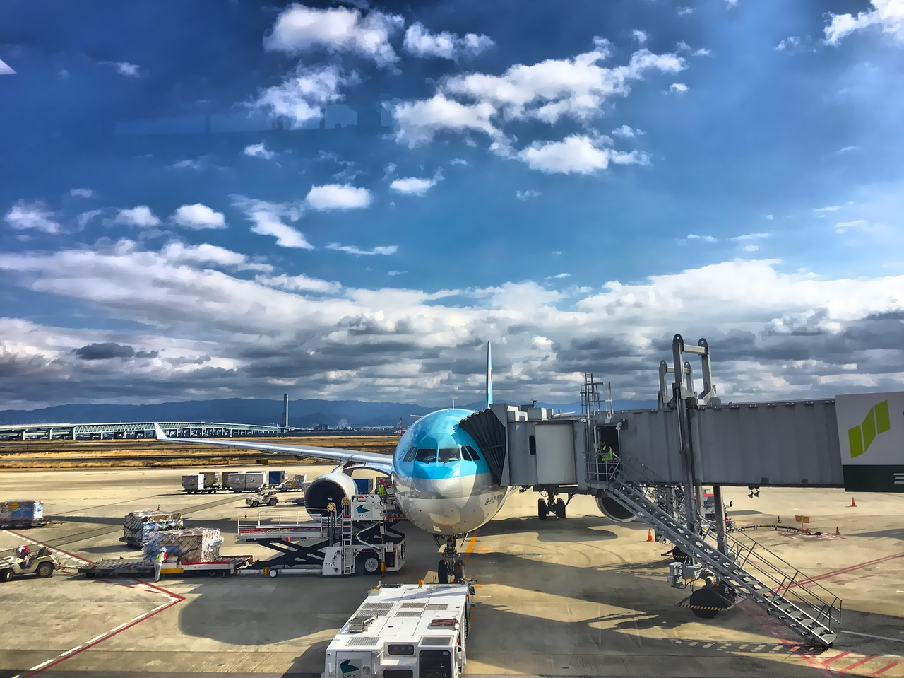 plane airport korean air free photo