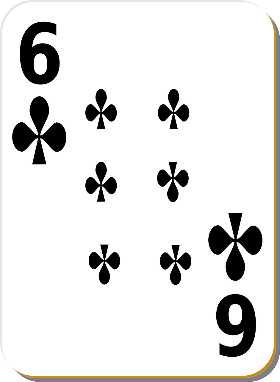 playing card,six,clubs,play,gambling,chance,leisure,risk,poker,casino,gamble,luck,win,bet,vegas,suit,gaming,playing,isolated,number,betting,free vector graphics,free pictures, free photos, free images, royalty free, free illustrations, public domain