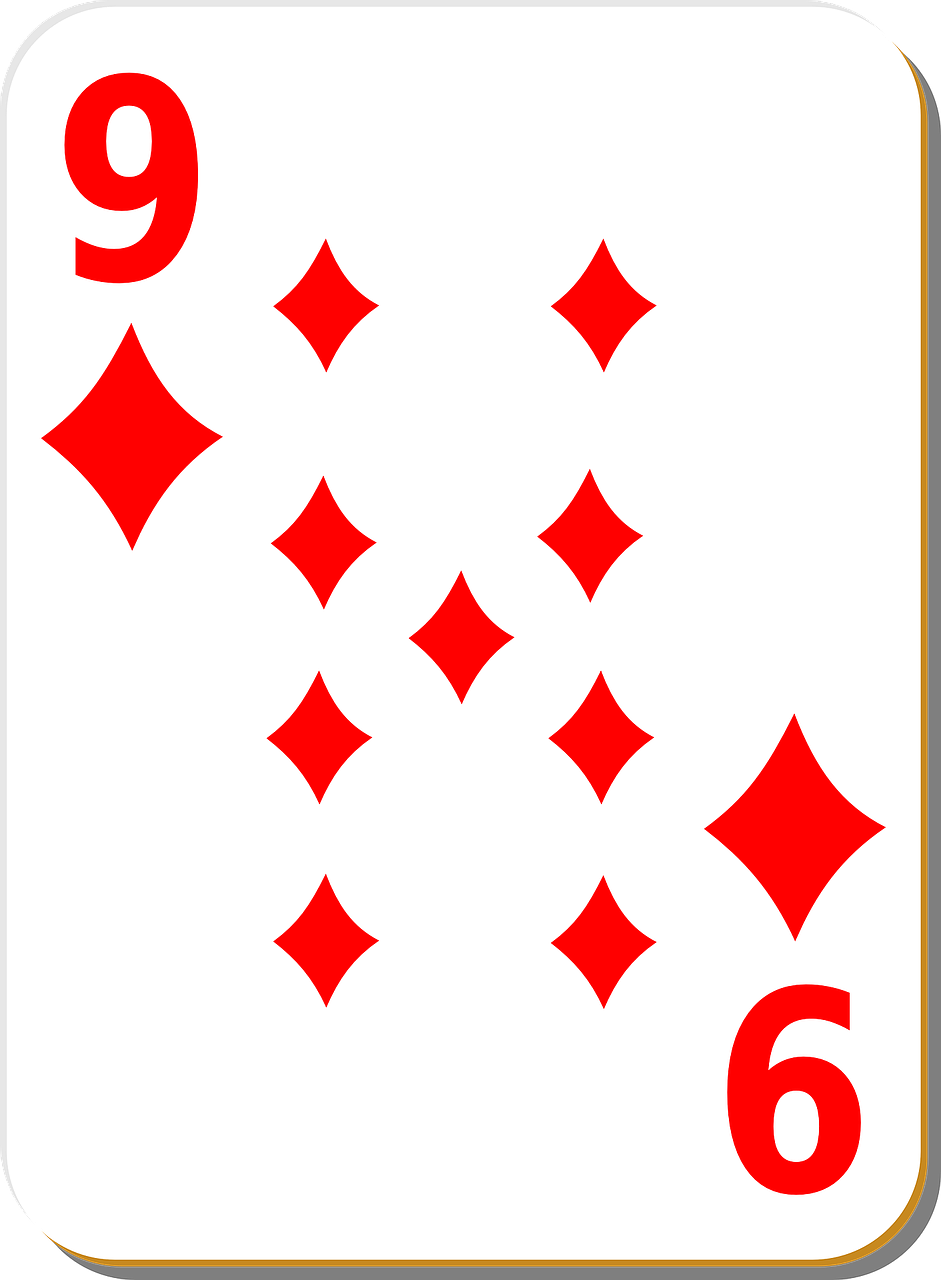 playing card nine diamonds free photo