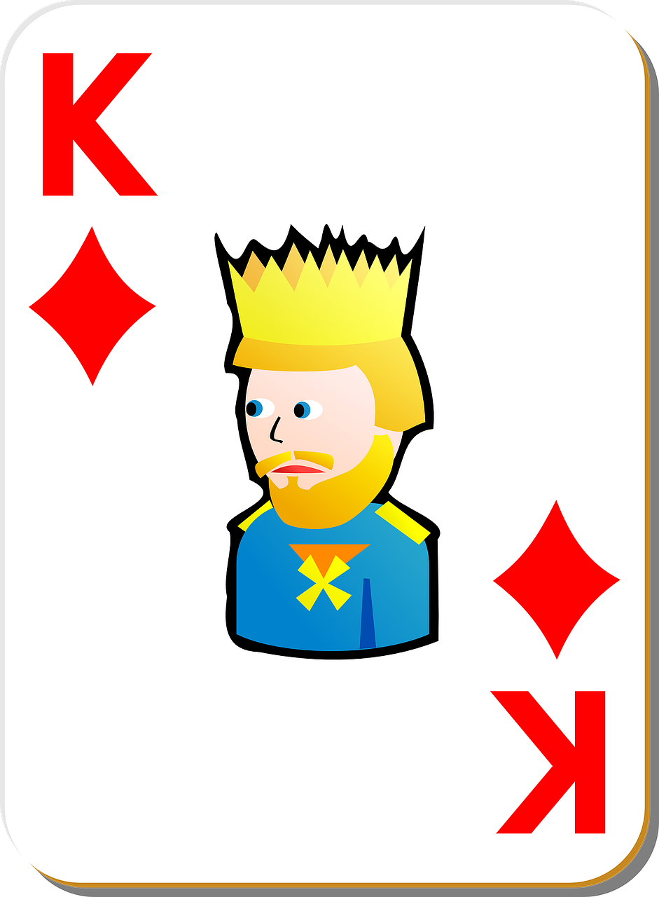 playing card king diamonds free photo
