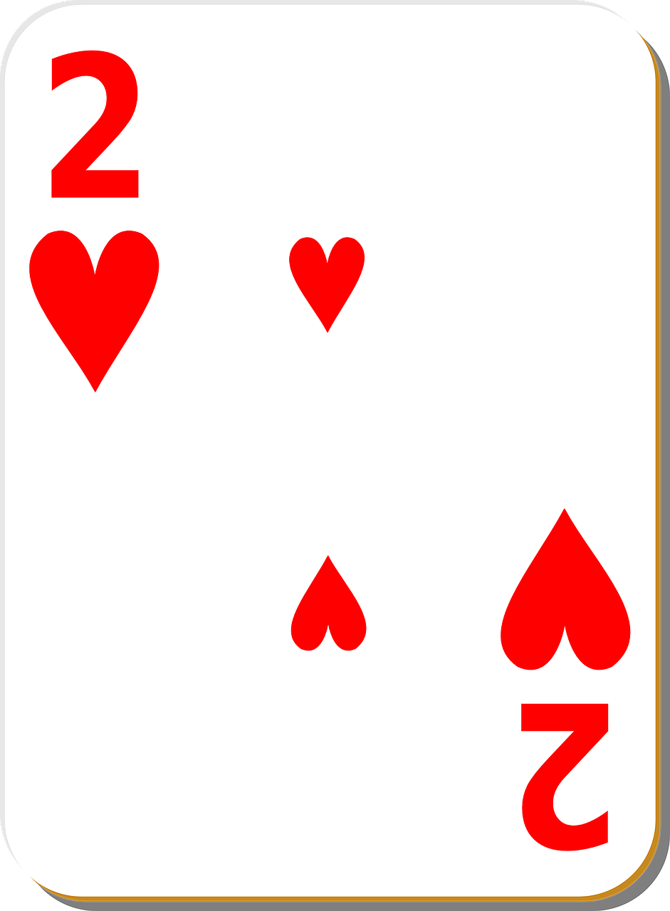 playing card two hearts free photo