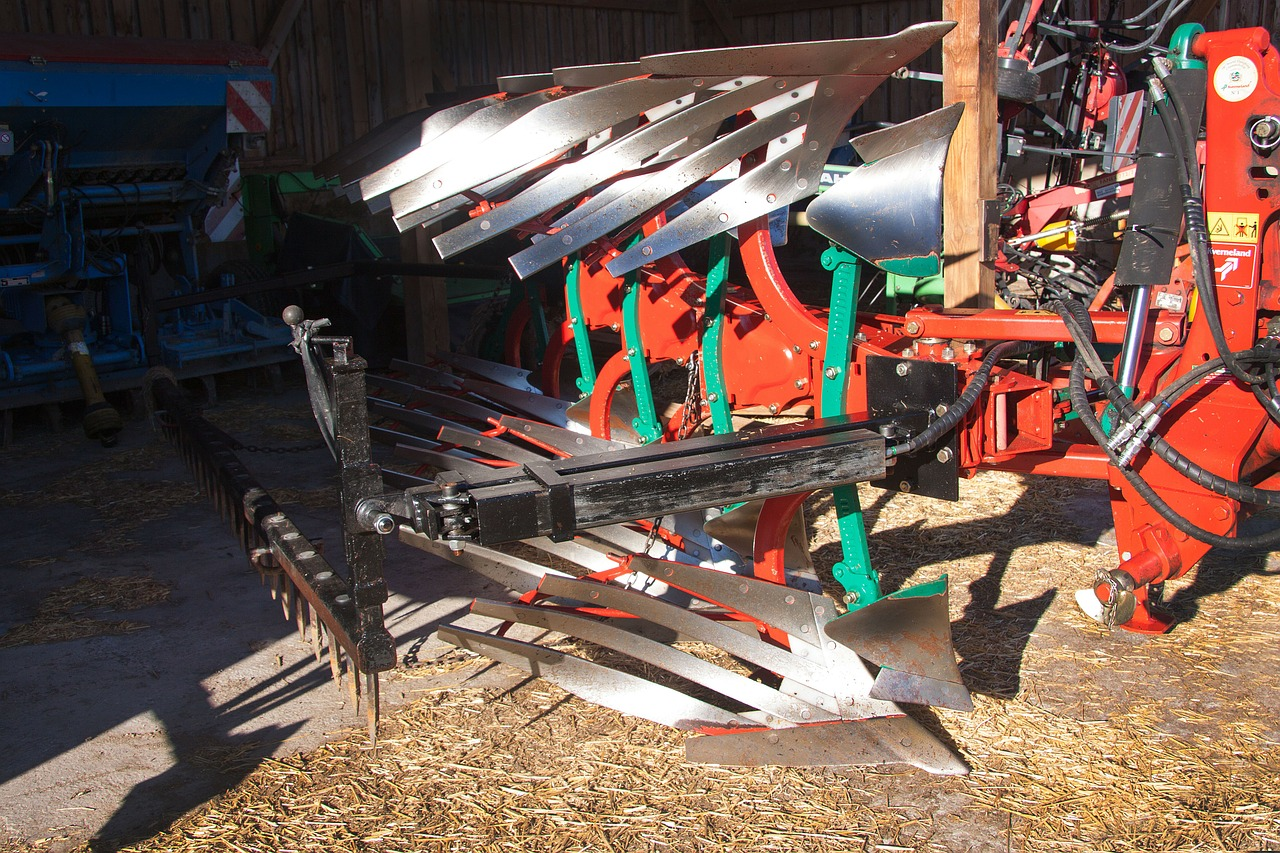plough agriculture machine free photo